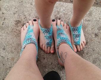 crochet bottomless sandals