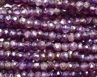 Mystic Coated Amethyst Faceted Roundell Beads