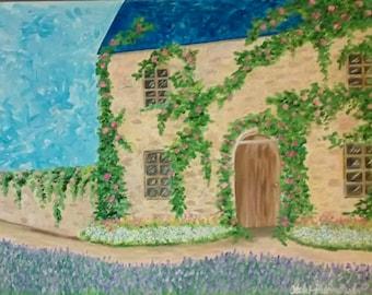 Idyllic Getaway, house, european, lavender