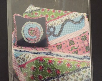 Pink Fig Patterns Miss Modd Cozy Quilt and Pillow Pattern