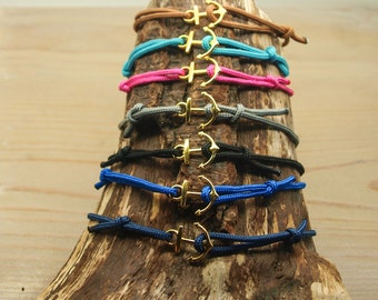 DIY kit bracelets Golden anchor X 7
