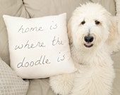Home is Where the Doodle is Pillow Case