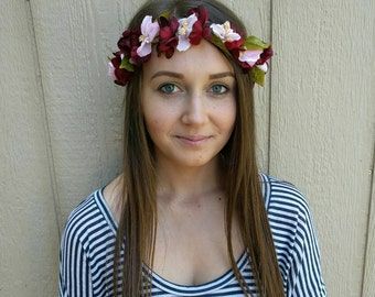 Handmade head wreath, head crown, floral head wreath,floral crown,spring wreath
