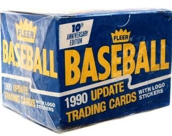 1990 Fleer Baseball Update Trading Cards