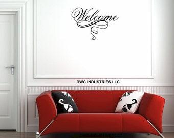 Welcome Vinyl Wall Art / Vinyl Sticker / Wall Decal / Vinyl Decal / Wall Art / Vinyl Art