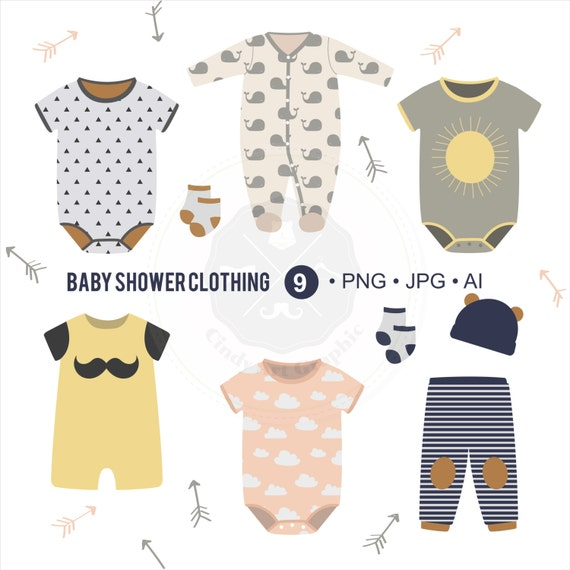 baby shower clothing clipart shower clipart baby shower clipart baby