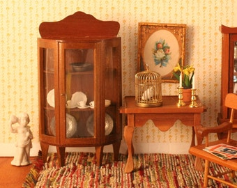 Bowed-front China Cabinet, Miniature