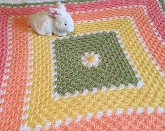 Daisy Granny Square Baby Blanket