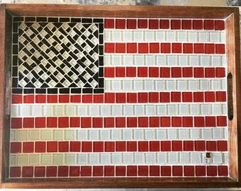 Americana mosaic serving tray
