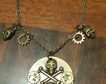Steampunk Gear Pirate Necklace