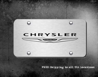 Chrome Chrysler License Plate