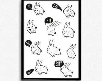 Bunnies- poster