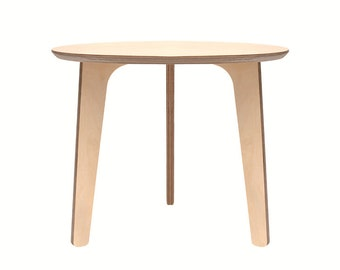 Tripod side round table wood - Birch plywood