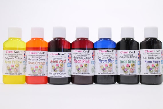 Classikool 30ml Neon Gel Food Colouring for Sugarpaste Icing