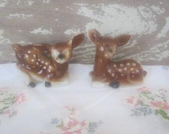 Vintage Ceramic Deer Salt & Pepper Shakers