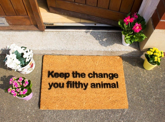 Home Alone Keep The Change You Filthy Animal Funny Doormat