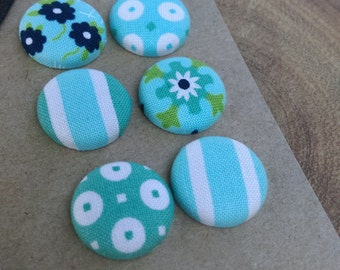 Aqua Blue Green Designer Magnet Set