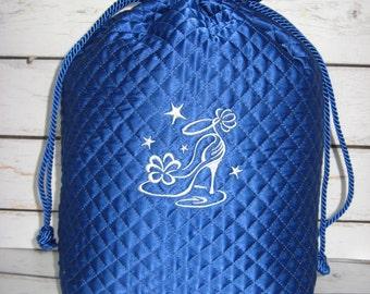 FREE SHIPPING/Satin Shoe Bag/ Blue Shoe Bag/Travel Bag/Shoe Bag  by HummingbirdGoods  https://www.etsy.com/shop/HummingbirdGoods