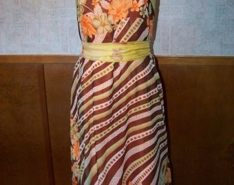Upcycled Bridesmaid Scarf Dress