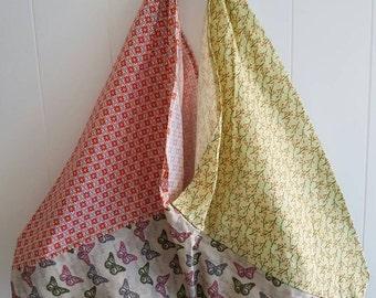 Origami market bag, tote shopping bag, boho bag, handbag, womens bags