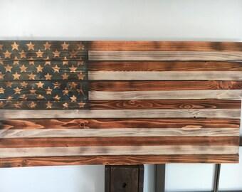 Rustic American Flag Art