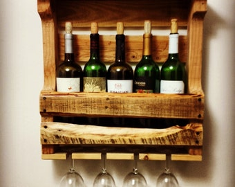 5 Bottle Reclaimed Wood Wine Rack