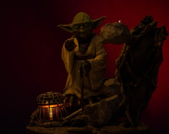 8x10 photo of Yoda Toy Photography