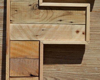 Letter F (large format) wooden