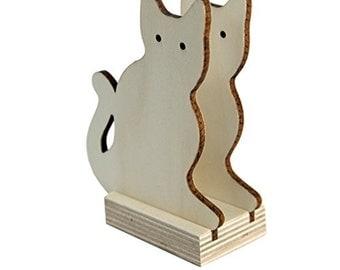 """Napkin holder """"Kitten"""", decoupage, wood cm 9x11"""