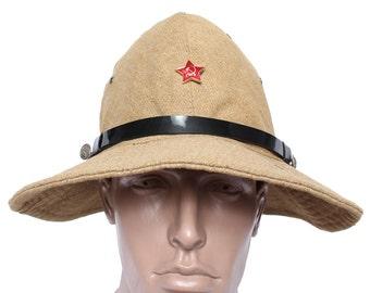 Russian military hat panama Afghanka / Soviet Army summer cap