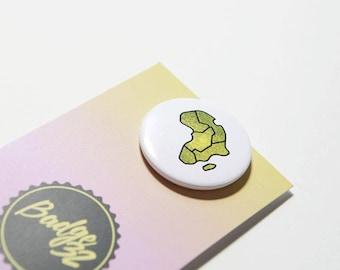 GOLDEN AFRICA / 32mm pin button badge