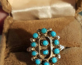 Sterling Silver D Malie Turquoise Ring.