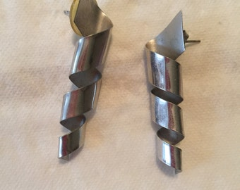 Vintage 80s silver earrings