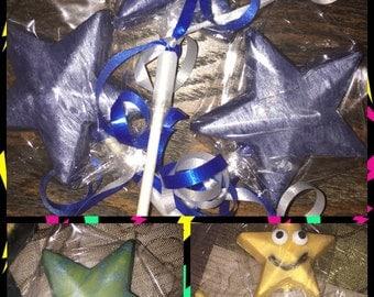 Star chocolate lollipops