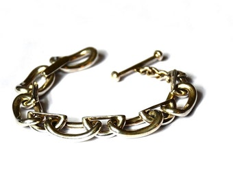 silver  hand made bracelet greek  jewelery 70s