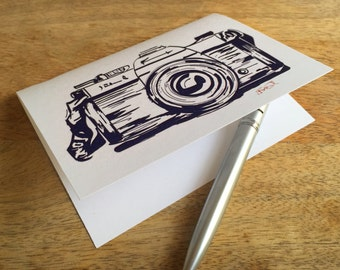Illustration of a Camera - set of handmade note cards