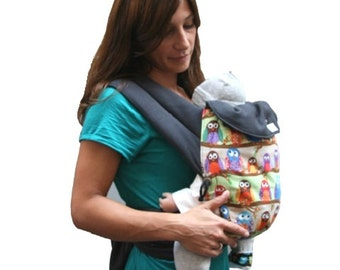 Baby-carrier Chouette 100% biological cotton made in Lyon