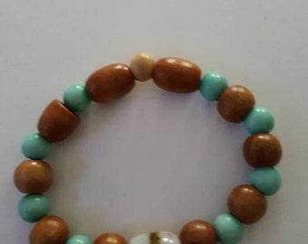 Turquoise & wood
