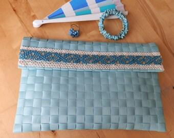 Aquamarine blue bag