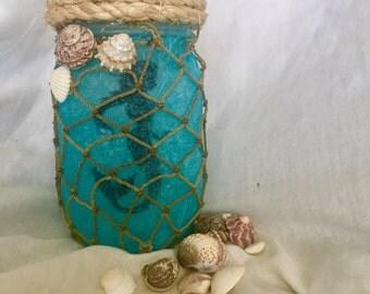 MERMAID LANTERN multicolored jar light fantasy decoration weddings birthdays bedroom or kids nightlight