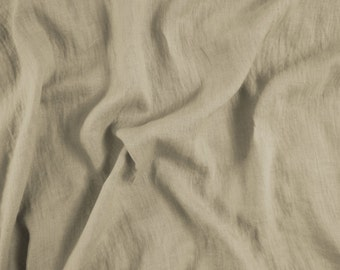 Linen Fabric  sand 100% Natural. Linen Fabric by yard, meter. For clothes, other wide usage.