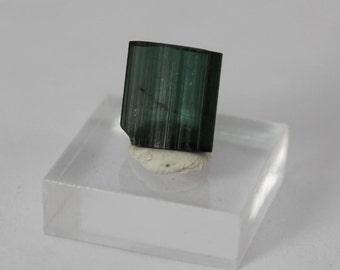 Indicolite tourmaline partial tabular crystal .8g