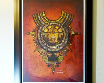 Aztec Poster - Penache Hand Signed by Artist