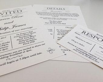 Simple Gatsby Invitation (Sample)