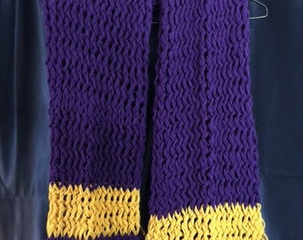 Plum and Gold Scarf (men or woman)