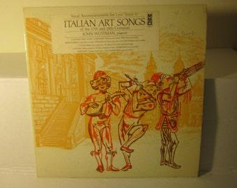 Low Voice Accopaniments Italian Art Songs 17th 18th Century 1976 LP & Bonus Sheet Music.