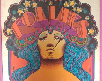 Follies LP (Original Broadway Cast 1971) PSYCHEDELIC COVER