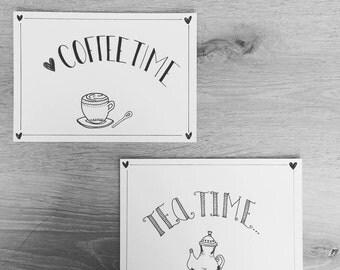 Invitation    Greeting cards    Map   Tea   Coffee   High tea