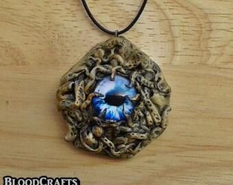 Shoggoth shapeshifting eye Monster Lovecraft Mythos Charm pendant necklace