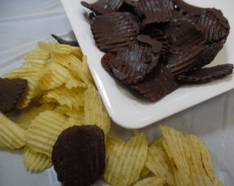 Chocolate Covered Potato Chips - 8 oz
